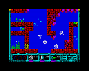 Aquanoids, pantalla del juego.